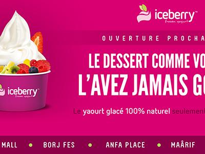 "Iceberry ""Coming soon"" Palisade graphic design branding"
