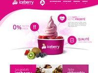 Iceberry homepage view