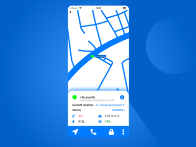 DailyUI 020 - Location Tracker