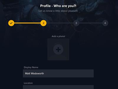 Process profile steps process