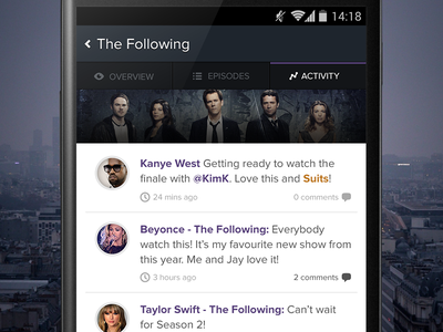 Show Activity tv android tv show app