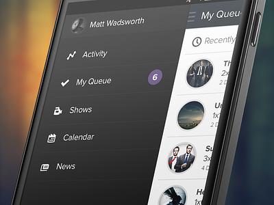 App Side Navigation tv android tv show app