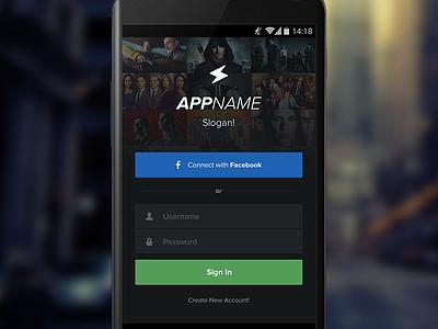 App Login Screen tv android tv show app