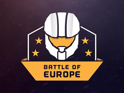 Battle of Europe - Logo logo halo battle europe helmet master chief