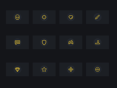 Gaming Icons pokemon dpad mario star diamond arcade controller gg shield heart crosshair skull sword icon set gaming esports icons