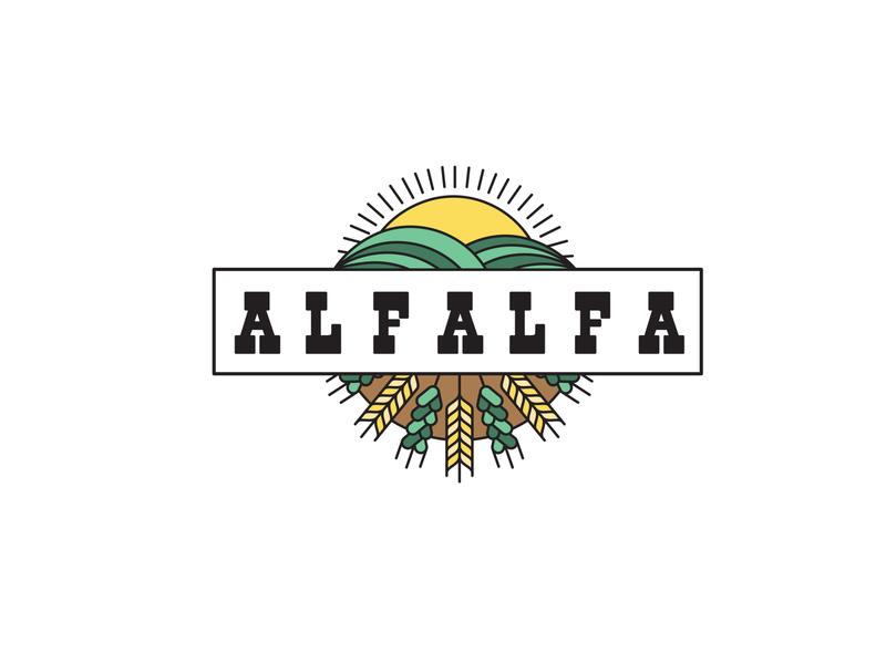 Alfalfa Logo Design lettering flat website typography minimal logo illustrator illustration design branding