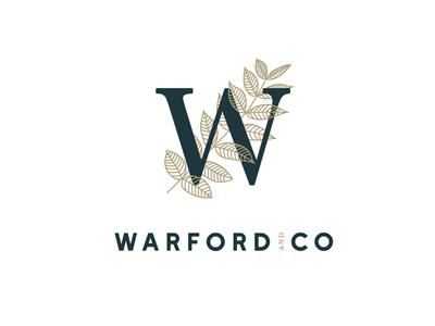 Warford and Co. Logo Design lettering flat website typography minimal logo illustrator illustration design branding