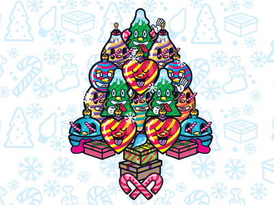 Xmas re-EXEC | Christmas three  character design illustration pattern art christmas new year characterdesign