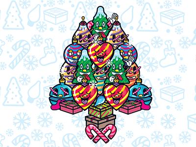 Xmas re-EXEC   Christmas three character design illustration pattern art christmas new year characterdesign