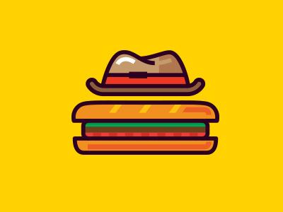 sandwich logo mark emblem sandwich fastfood