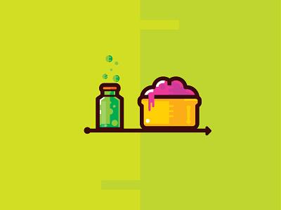 Poison&Brain pic symbol poison brain illustration