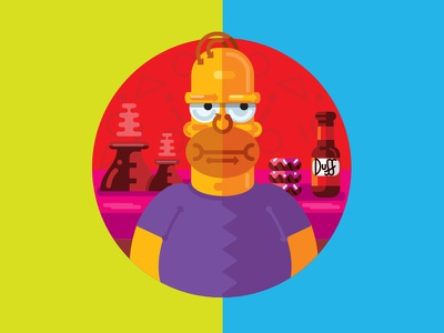 Homer pic duff homer simpsons illustration
