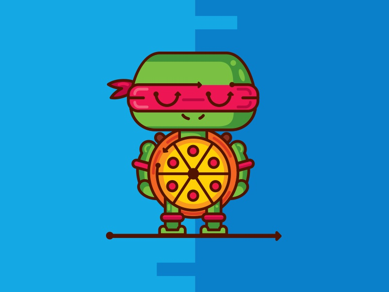 Raphael  (Pizza turtles)  pic ninja turtles raphael tmnt illustration