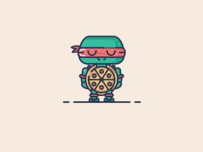 Pizza Turtle pic ninja turtles raphael tmnt illustration