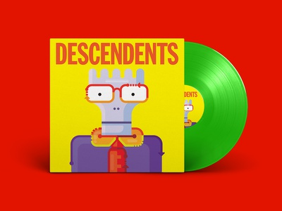 Descendents vinyl for fun nerdpunk illustration