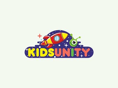 KIDSUNITY space illustration logo