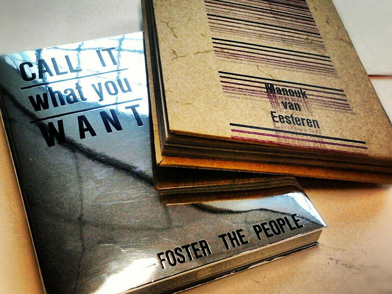 Letterpressed Book Covers letterpress book cover wdka school mirror foster the people music quote call it what you want old technique stamp name creative lines stripes paper van eesteren manouk