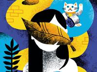 Lucky Cat illustration cat lucky manoukvaneesteren eesteren van manouk