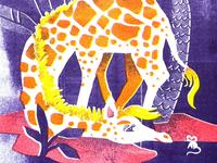Giraffe & mouse risoprint