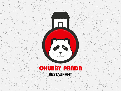 chubby panda restaurant logo