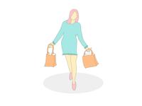 shoppiing lady
