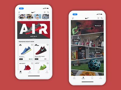 Nike App Concept shoes clean ui clean card sketch adobexd app shoe nike mobile interface mobile design interface designs mobile flat design user interface design design app design ux ui
