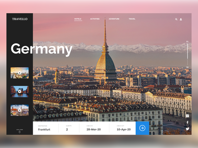 Travello- A travel agency website concept adobe xd website trendy banner design trendy design booking branding agency website travel web design webdesign interface clean ui banner ui flat design design clean