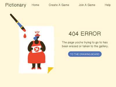 #DailyUI 008 - 404 Page error message error error page error 404 website pictionary uidesign branding daily ui vector 404 error page 404 error 404 page 404page 404 dailyui 008 dailyuichallenge dailyui ui adobe xd