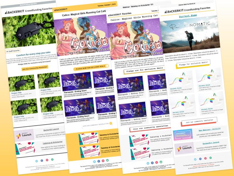 BackerKit Newsletter Redesign