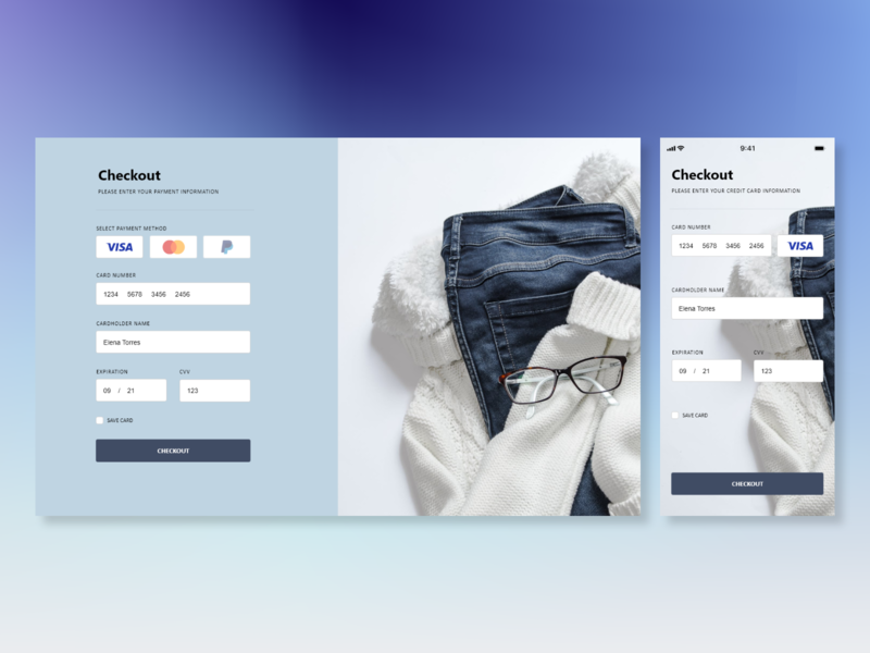 #DailyUI 002 - Credit Card Checkout
