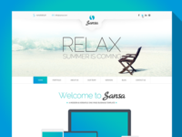 Sansa - One Page PSD Template