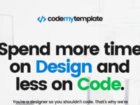 Landing page for codemytemplate.com