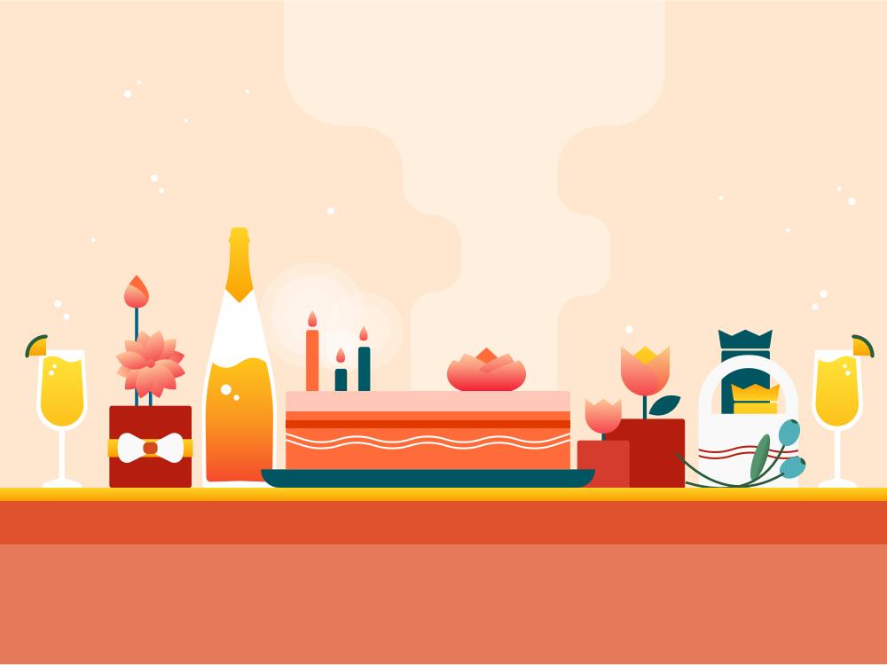 Floweraura Gift Voucher as Win-Win Reward grocery app logo minimal design flat ui icon visual design vector illustration iconography graphic ui deisgn app ui illustration ux ui vector graphics illustration art illustrator illustration grofers