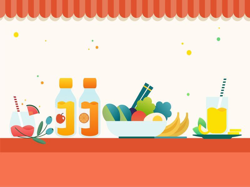 Eat.fit food voucher as Win-Win Reward design grocery app ui icon app vector minimal flat graphics iconography graphic visual design vector illustration ui deisgn ux ui ui illustration grofers illustration art illustrator illustration