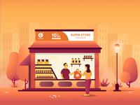 Offline Store Landing Page Illustration