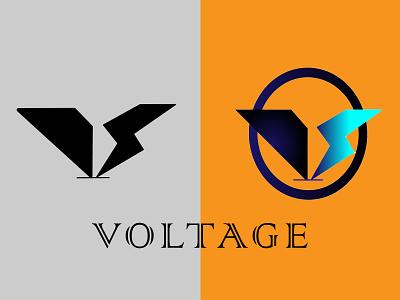 Voltage company logos embllem logo design logo