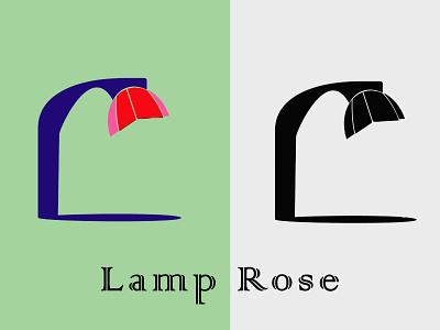 Lamp Rose logotype business illustration logo lamp rose