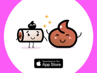 Poops live FREE stickers for iOS ^__^