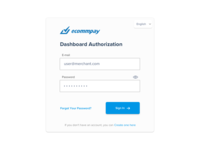 Dashboard Authorization Form