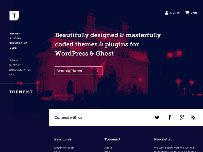 Themeist Home Page website