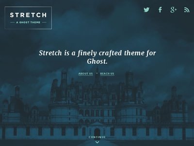 A Theme for Ghost App design website template