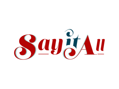 """Logo for """"Say it All"""" logo"""