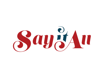"Logo for ""Say it All"" logo"