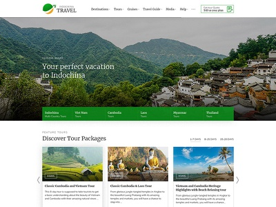 Travel Agency Template indochina travel