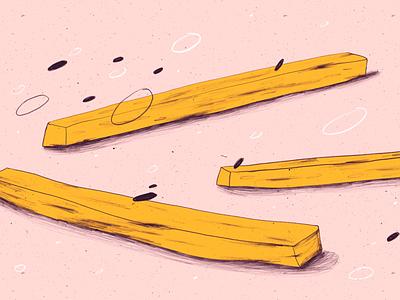 Pommes - super food hellodanane food digitalart illustration