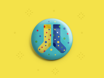 Fun Socks Button
