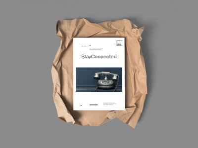 Stay Connected - Minimal Poster Design typography graphic design layout exploration layout design design minimal poster design poster a day poster