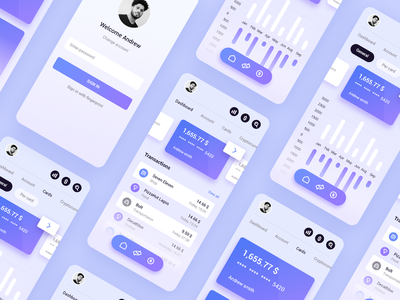 banking app xd tracking financial transfer card money currency bank app ui ux branding