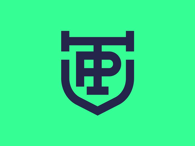 TP - Personal Trainer Pawel design minimal branding logo vector