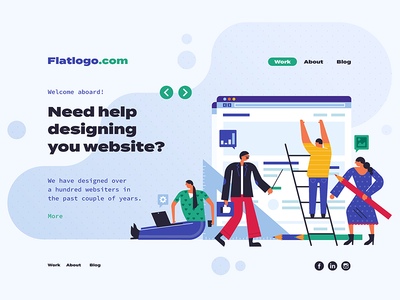 Flat Landing Page